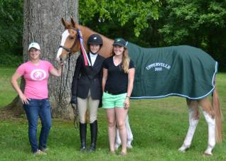 Katherine McCoy winning at Upperville